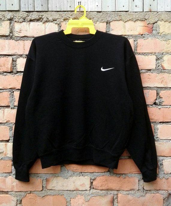 844265e464c01 Rare!!! Vintage NIKE SWOOSH Small Logo Sweatshirt pullover Jumper ...