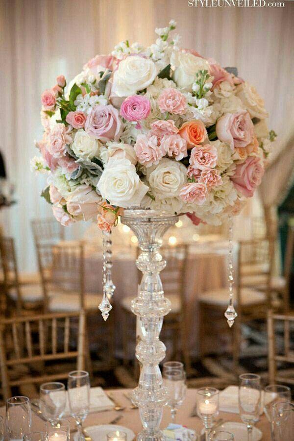 Tall piece | Wedding centerpieces diy, Dollar tree wedding ...