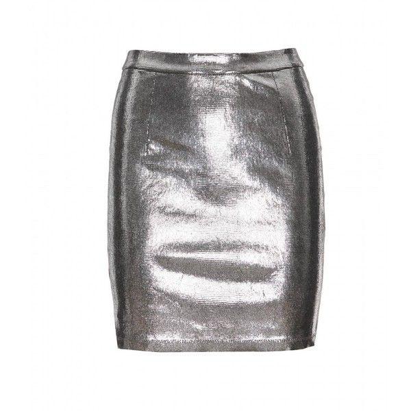 Alice + Olivia Caitlin Waistband Leather Skirt ($663) ❤ liked on Polyvore