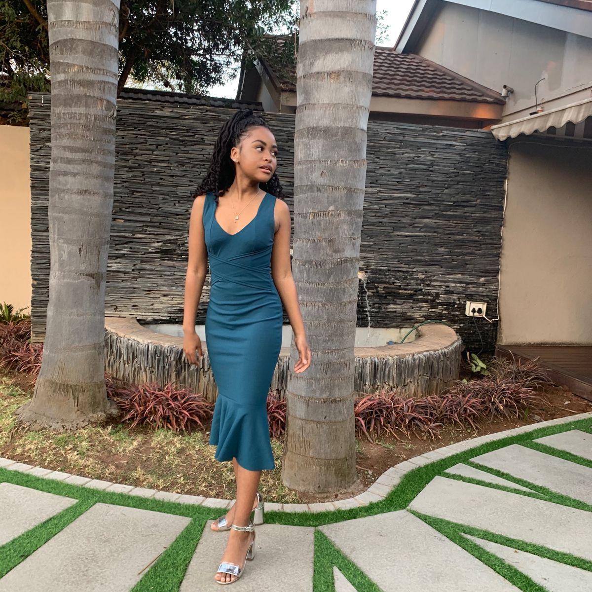Black Girl In Turquoise Dress Turquoise Dress Black Girl Dresses [ 1200 x 1200 Pixel ]