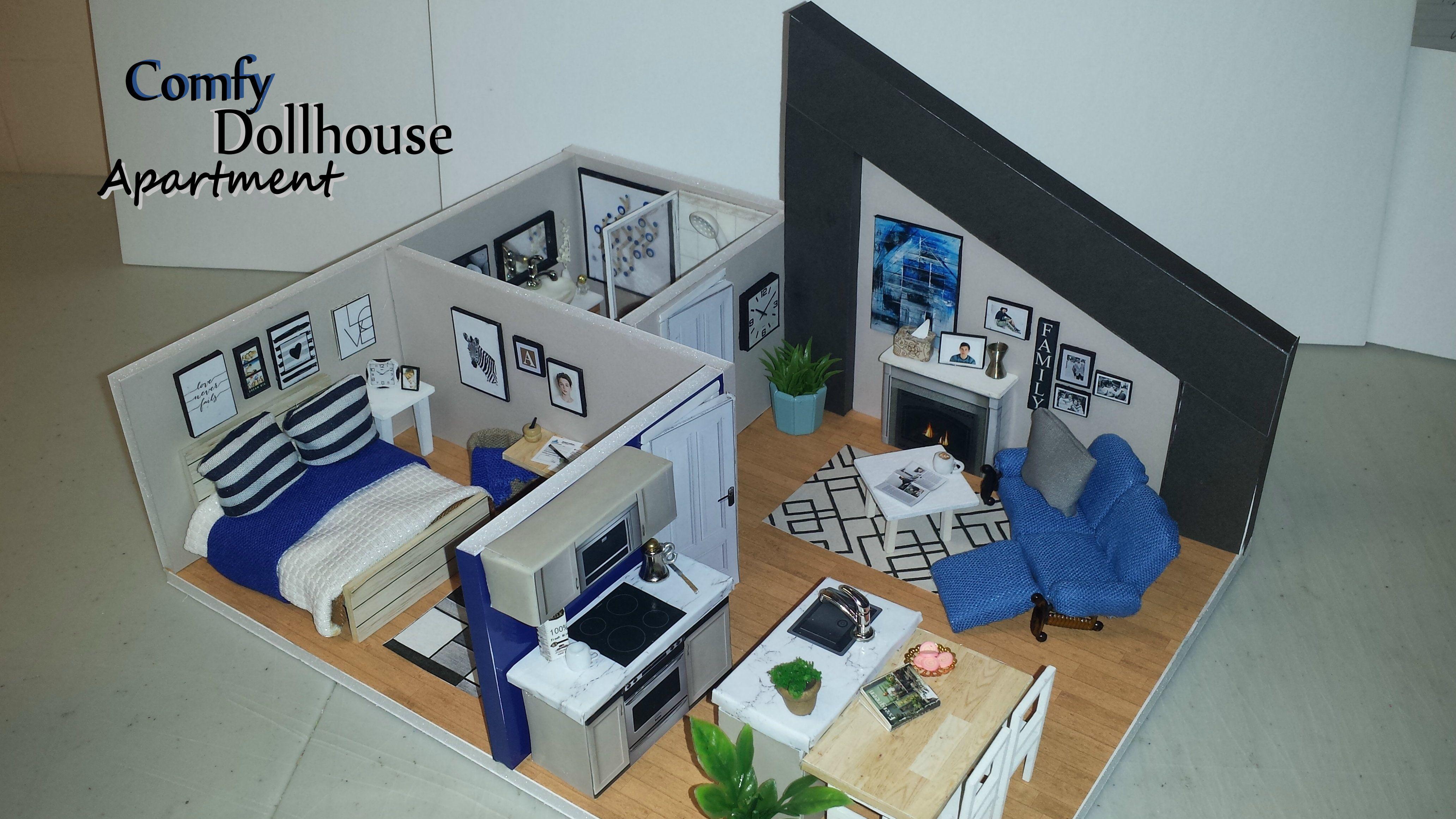 Diy miniature comfy dollhouse apartment