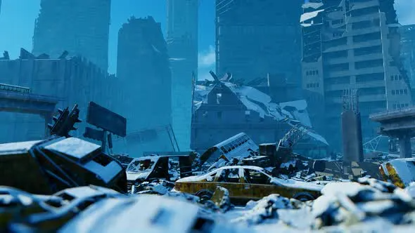 Big City Destroyed By War City City Games Destroyed