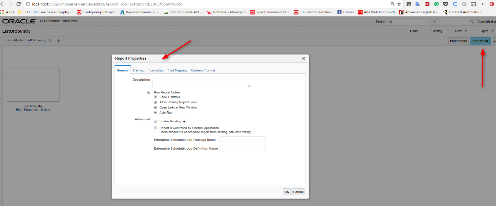 How To Configure Bi Publisher Runtime Properties This Section We