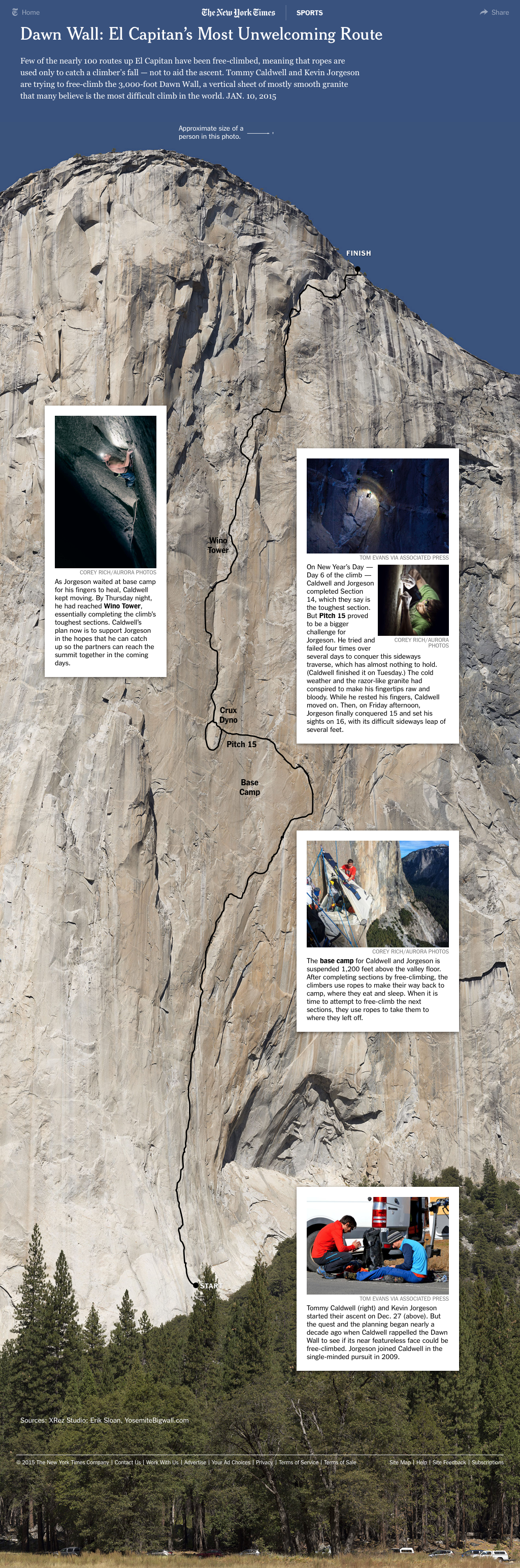 The Dawn Wall by The New York Times
