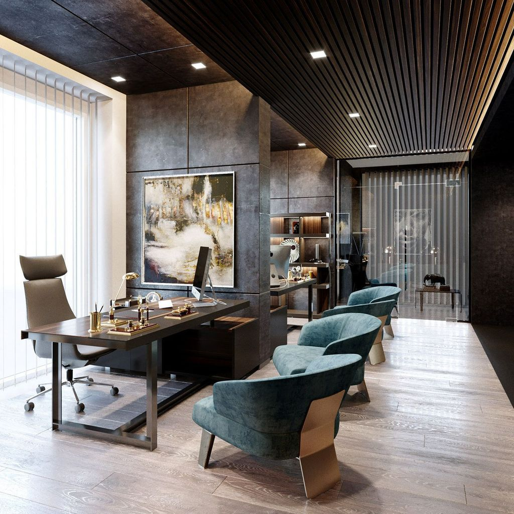 35 Gorgeous Modern Office Interior Design Ideas You Never Seen Before Homyhomee Office Interior Design Modern Modern Office Interiors Office Interior Design