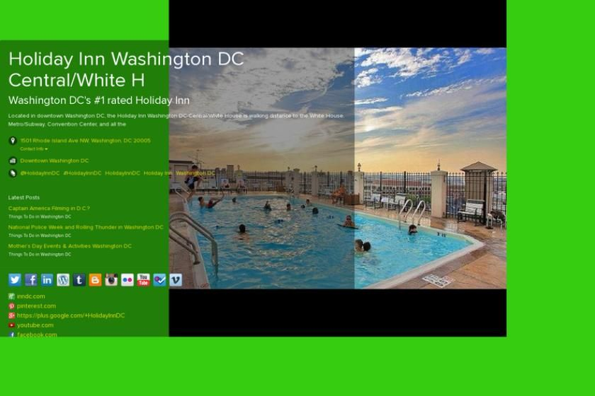 Check out my aboutme page washington dc holiday inn