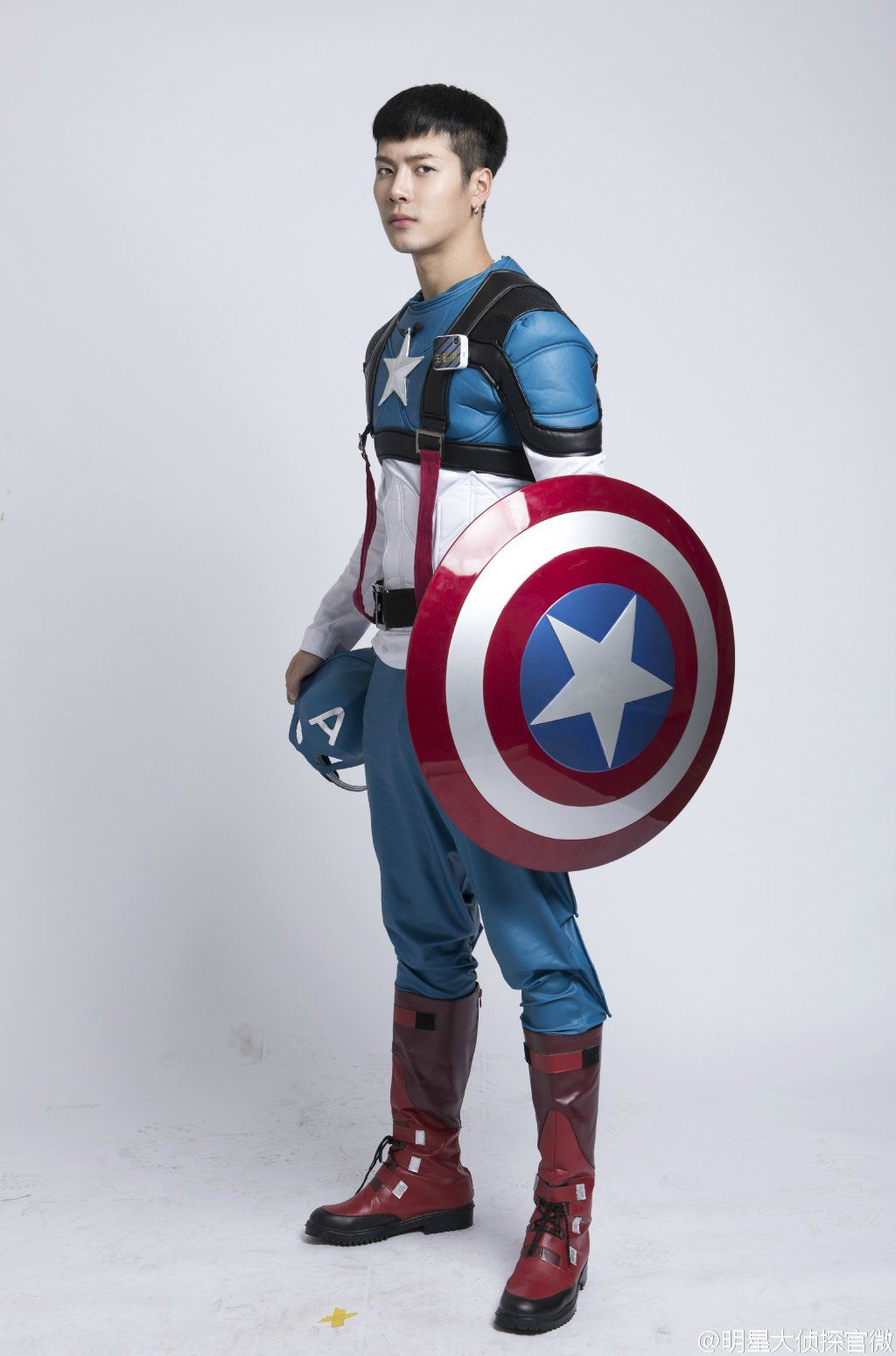 Got 7 Jackson dressed up as Captain America