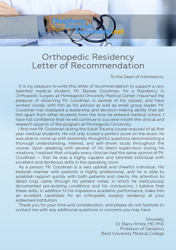 Pin by Residency Personal Statements Samples USA on Orthopedic ...