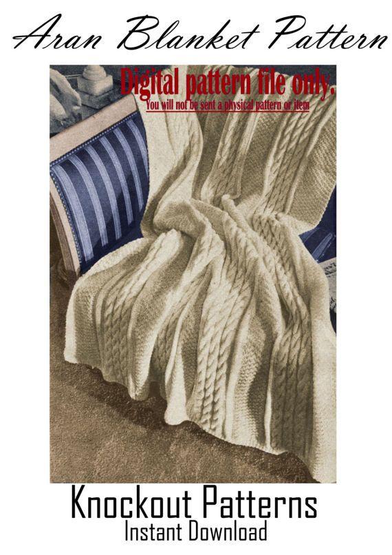 Pdf 40s Aran Blanket Knitting Patterns Aran Blanket Patterns Aran