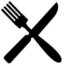 Crossed Fork Knife Clip Art Food Icon Png Clipart Black And White