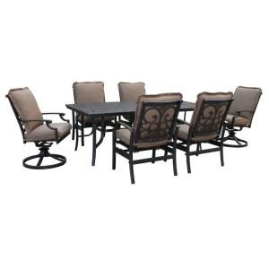 Messina Canvas Cocoa 7-Piece Patio Dining Set-FG-MN7PCDS-CC at The Home Depot $1399