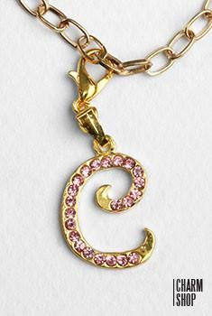 Gold Pink Italic Initial C Dangle Charm – Shop Miss A