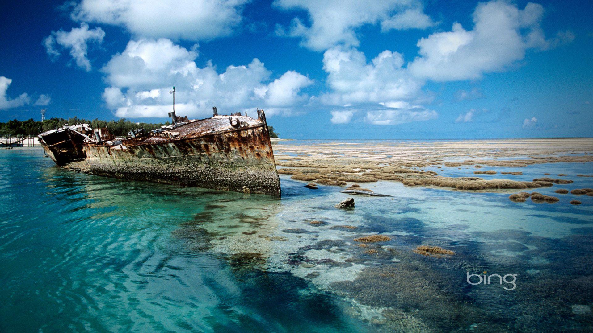 bing pictures desktop background Bing Shipwreck on Heron Island