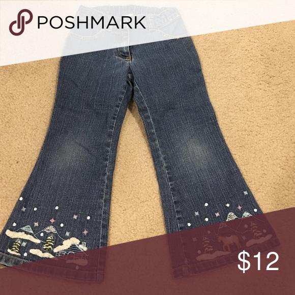 Girls Denim Jeans Cute denim flare jeans in excellent condition. Gymboree Bottoms Jeans