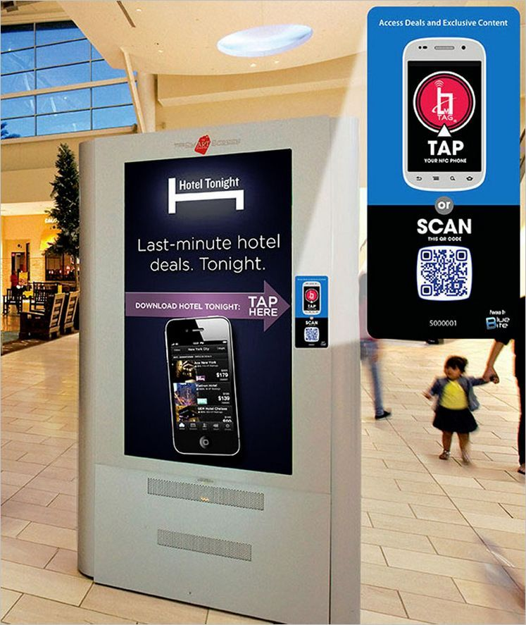 QR Codes And NFC In The Mall Qr code, Shopper marketing, Nfc