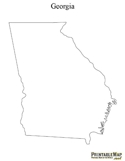 Outline Of Georgia Map.Printable Map Of Georgia Blow Up Print And Paint Places I Ve