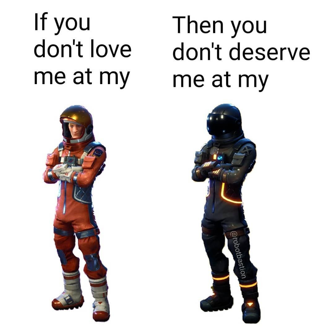 Which Is Your Favorite Skin In Fortnite Follow Robotbastion For More Credit C Gaming Gamingmemes Pcgaming Ov Overwatch Memes Gaming Memes Dankest Memes