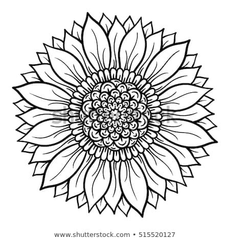 Flower Mandala Coloring Sunflower Coloring Pages Mandala Coloring Pages Mandala Coloring
