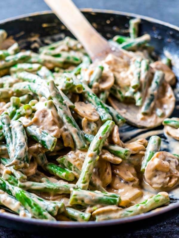 The Best Easy Low Carb Keto Green Bean Casserole images