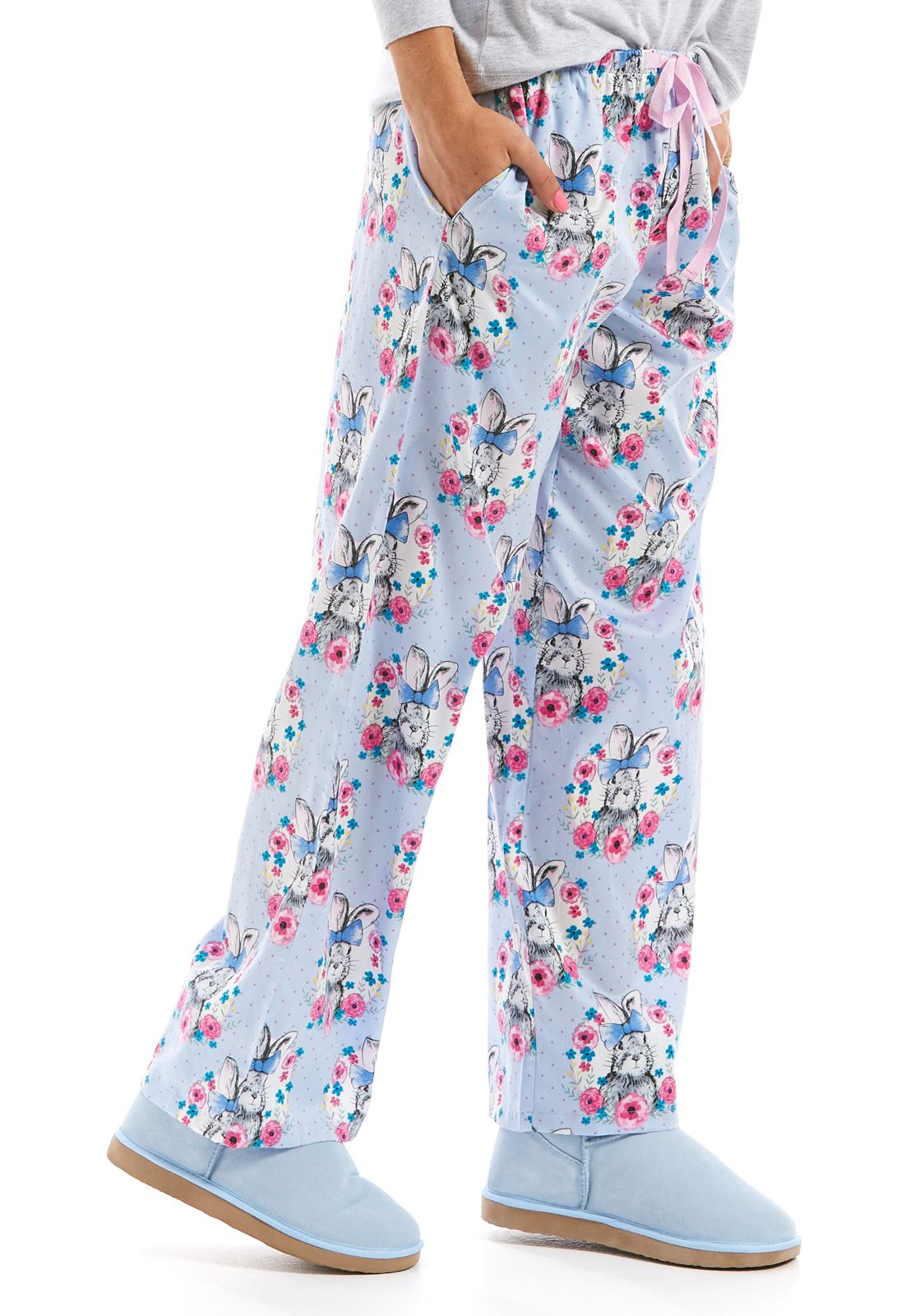 Ladies Womens Floral Patterned Jogging Bottoms Lounge Pants Trousers Loungewear