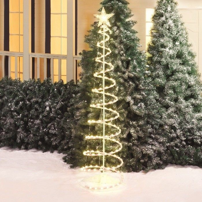 Outdoor Lighted Christmas Yard Decorations Prelit Xtmas Tree Lights