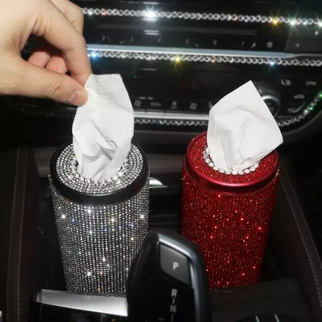 US $20.46 20% OFF|Bling Crystal Car Tissue Box Creative Diamond Paper Towel Tube Auto Tissue Paper Holder Case Home for Girls Car Accessories|Tissue Boxes|   - AliExpress