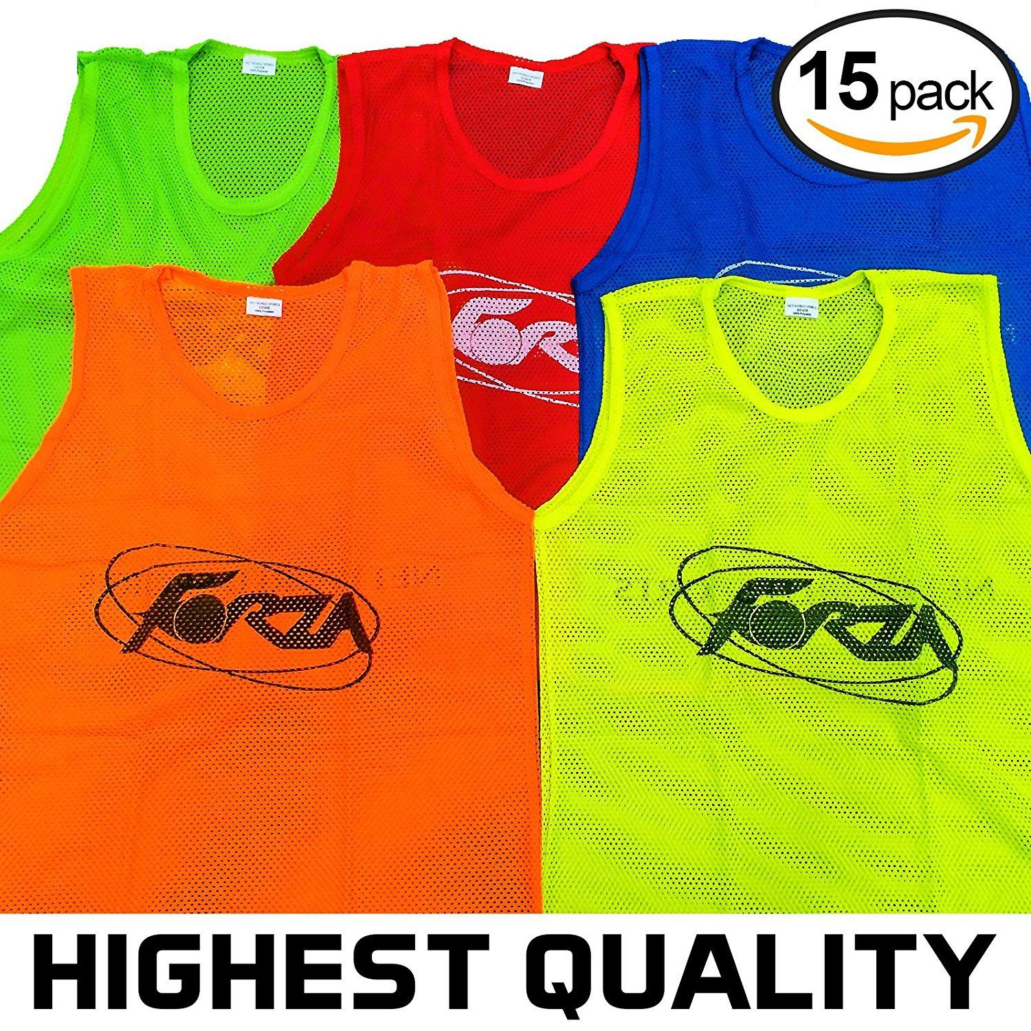 15x Forza Training Pinnies Vests Bibs Highest Quality Available Xl Yellow Best Quality Soccer Traini Athletic Tank Tops Soccer Coaching Football Training