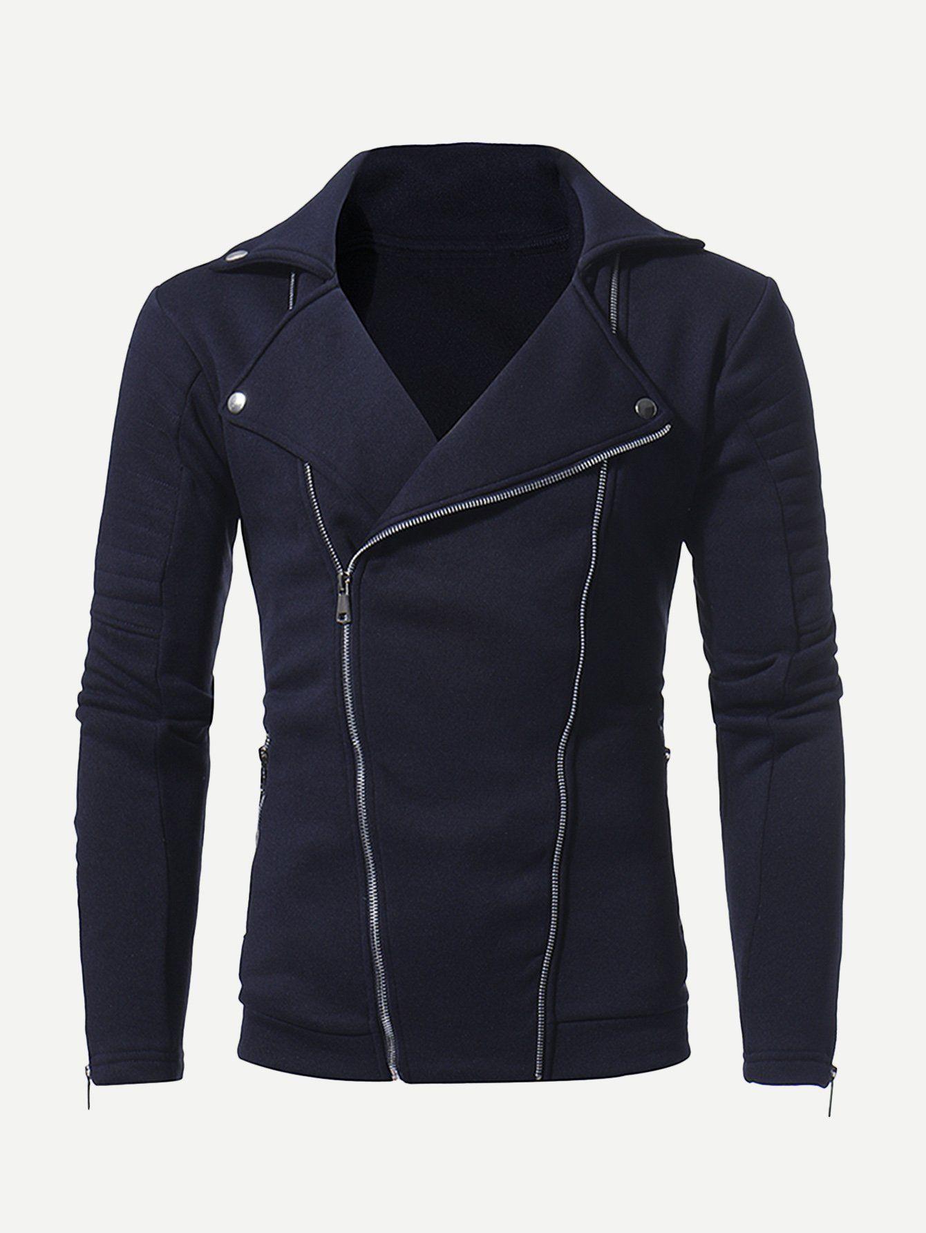 37dee1b8787d Asymmetric Zip Lapel Rocker Jacket | Products | Jackets, Men's coats ...