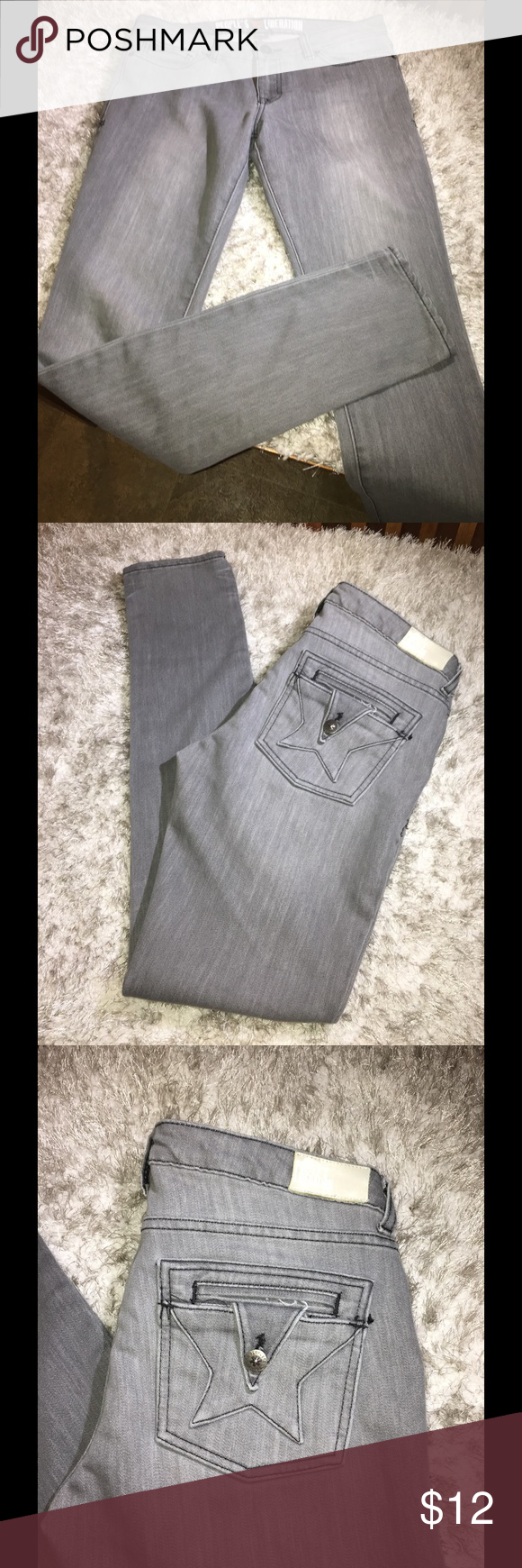 People's Liberation Grey Skinny Jeans Size 29 People's Liberation skinny jeans.  Washed out grey color, this is the way the come not just use fading.  Size 29. Inseam is 34 inches. Great condition. Important:   All items are freshly laundered as applicable prior to shipping (new items and shoes excluded).  Not all my items are from pet/smoke free homes.  Price is reduced to reflect this!   Thank you for looking! Peoples Liberation Jeans Skinny