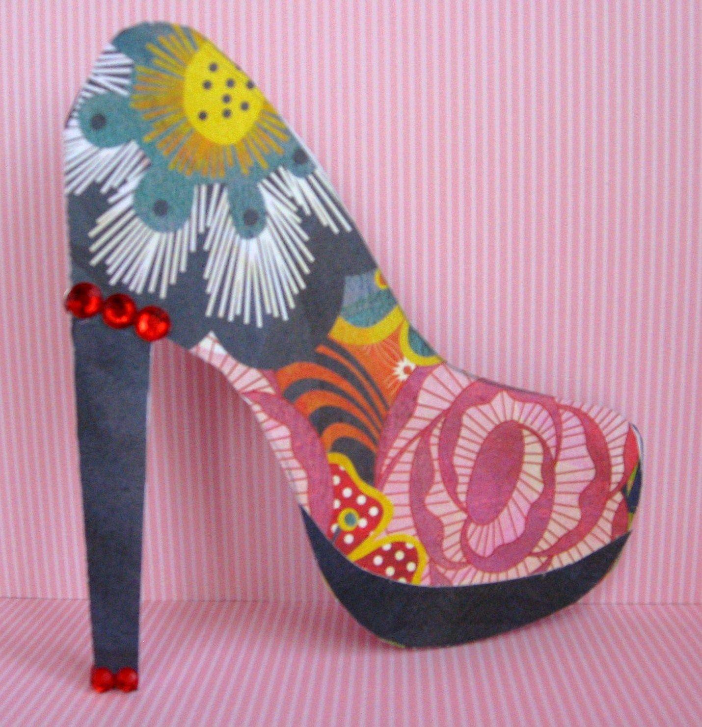 As The Card Rack Turns High Heel Shoe Template Shoe Template Glitter High Heels High Heels