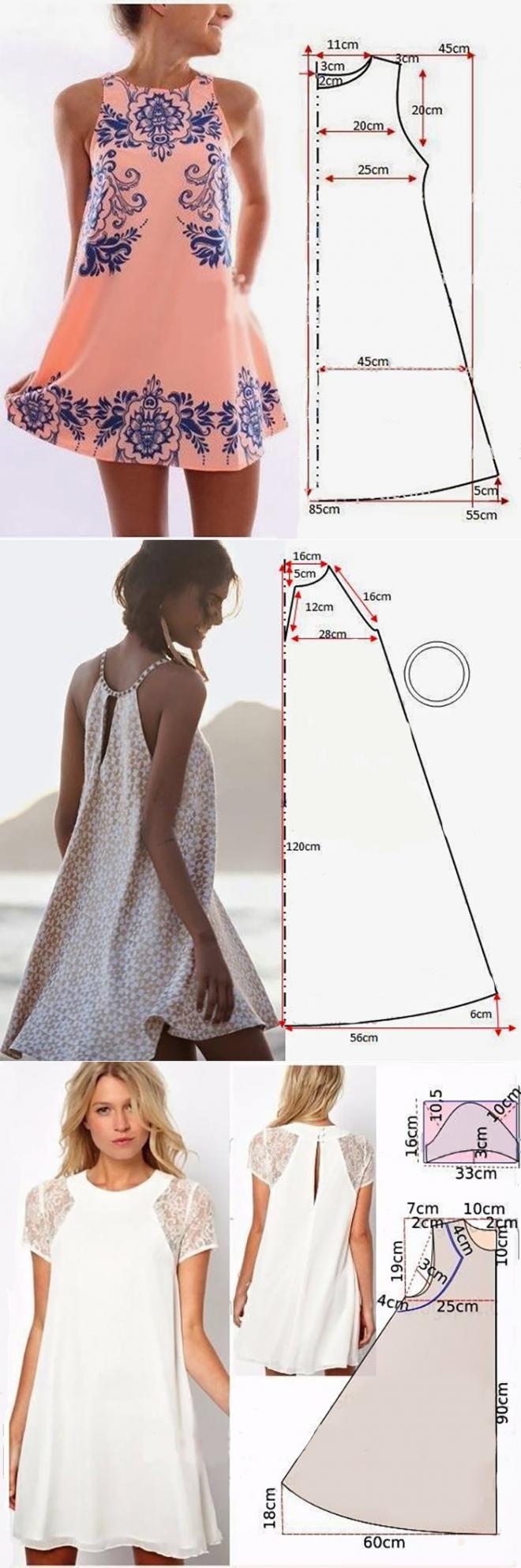 Vestidos con patrón fácil ;) | Falda | Pinterest | Patrones faciles ...