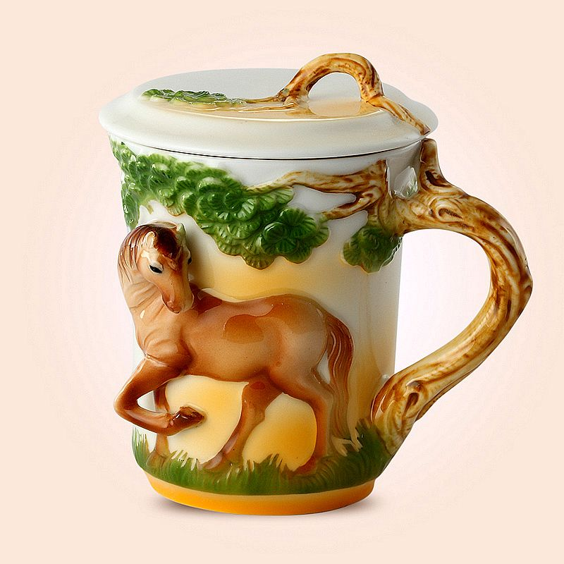 Cheap Mugs On Sale At Bargain Price Buy Quality Mug Cup Mix Cup Sucker From China Mug Suppliers At Aliexpress C Vintage Horse Pottery Painting Horse Designs