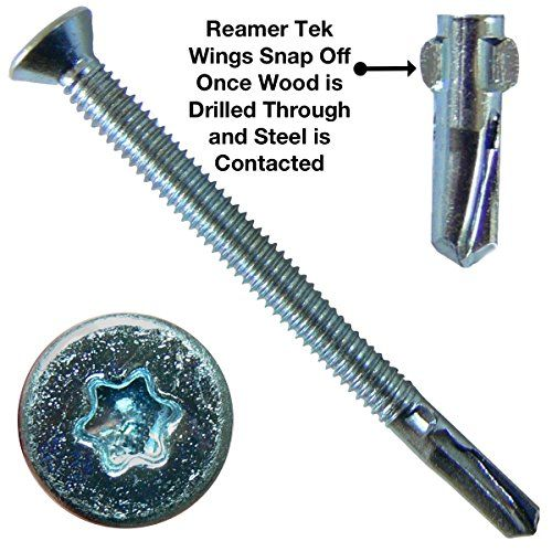 14 X 3 1 4 Quot Reamer Tek Torx Star Head Self Drilling Wood To Metal Screws 5 Pound 150 Tek Screws Tek Scr Screws And Bolts Bolts And Washers Reamers