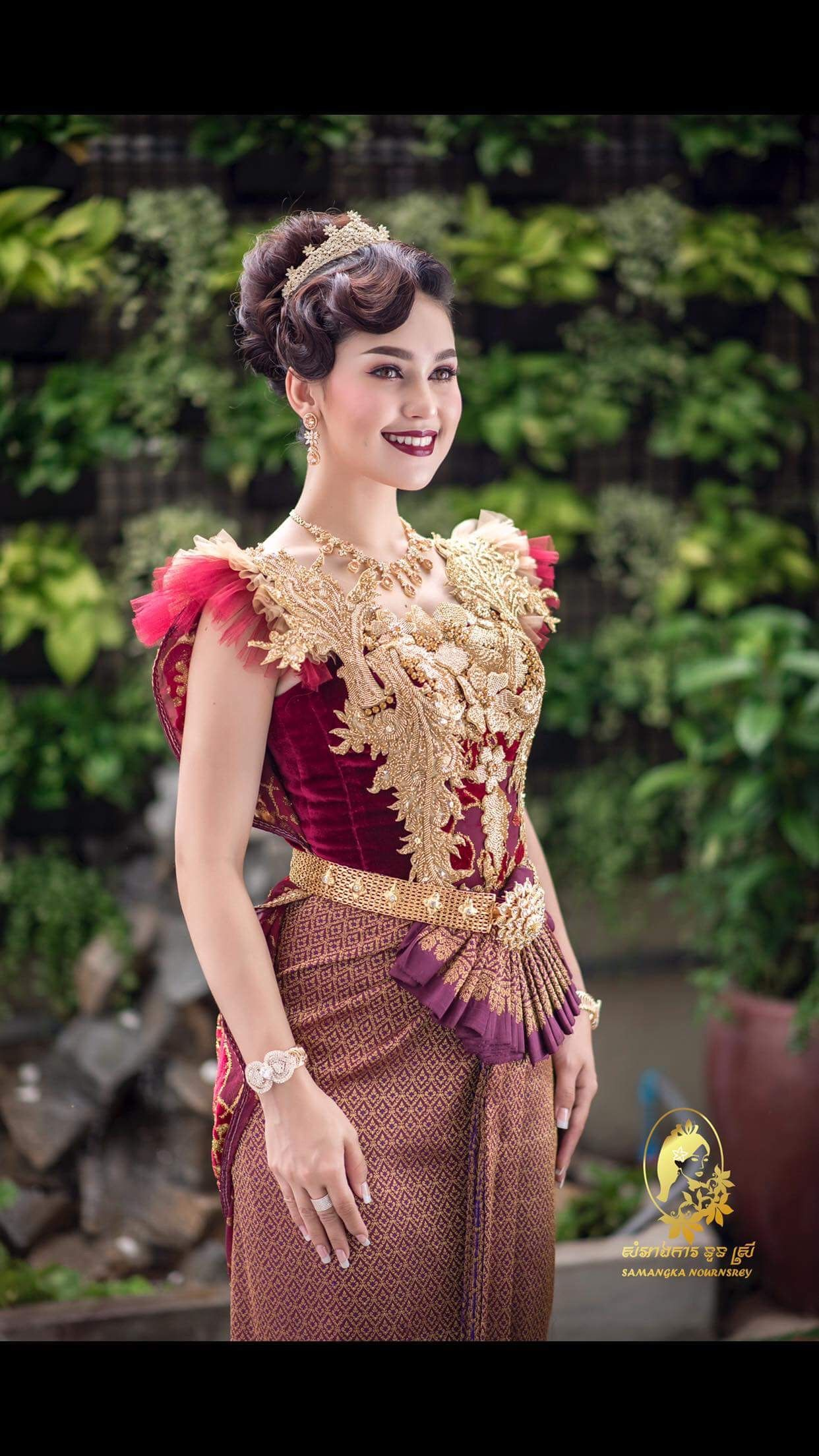 Pin by samangka nournsrey on khmer wedding outfits in