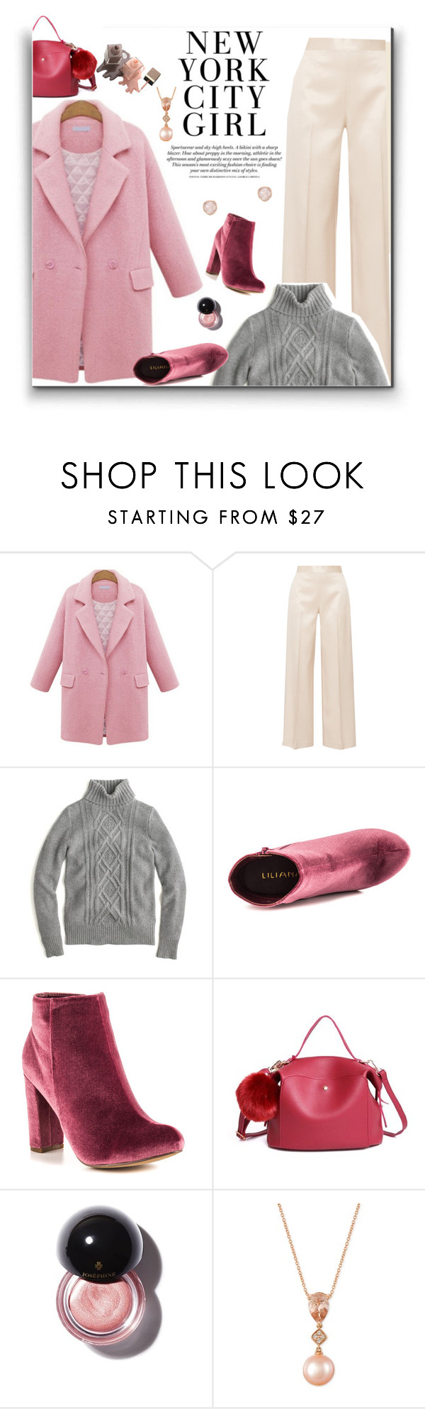 """""""632"""" by believelikebreathing ❤ liked on Polyvore featuring The Row, J.Crew, Liliana, LE VIAN, Monica Vinader and pinkcoats"""
