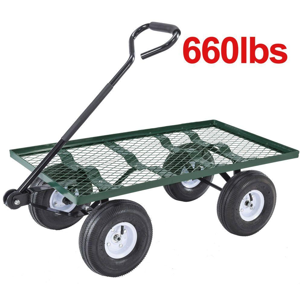 660LBS Heavy Duty Utility Garden Wagon Nursery Cart