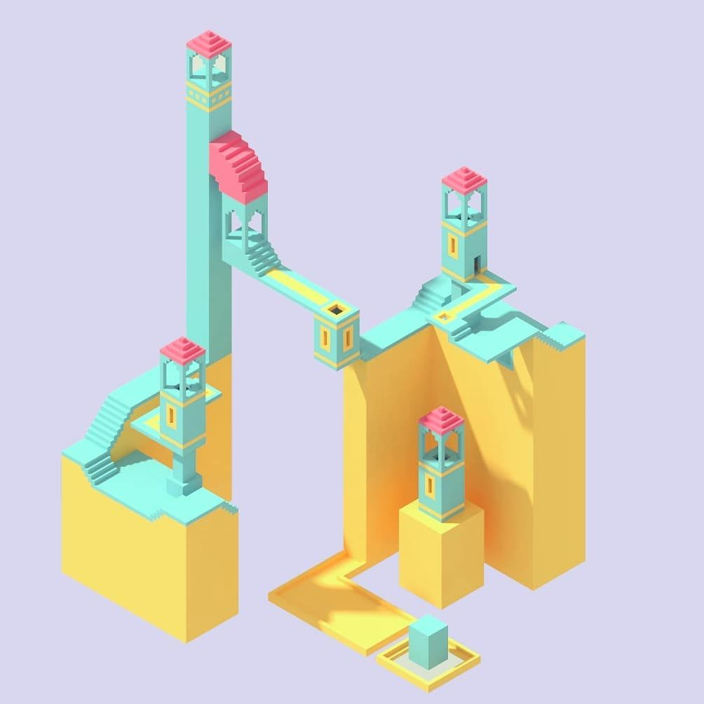 Concept Art Inspired By Monument Valley Game Lowpolyart