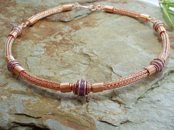 amethite & copper torque