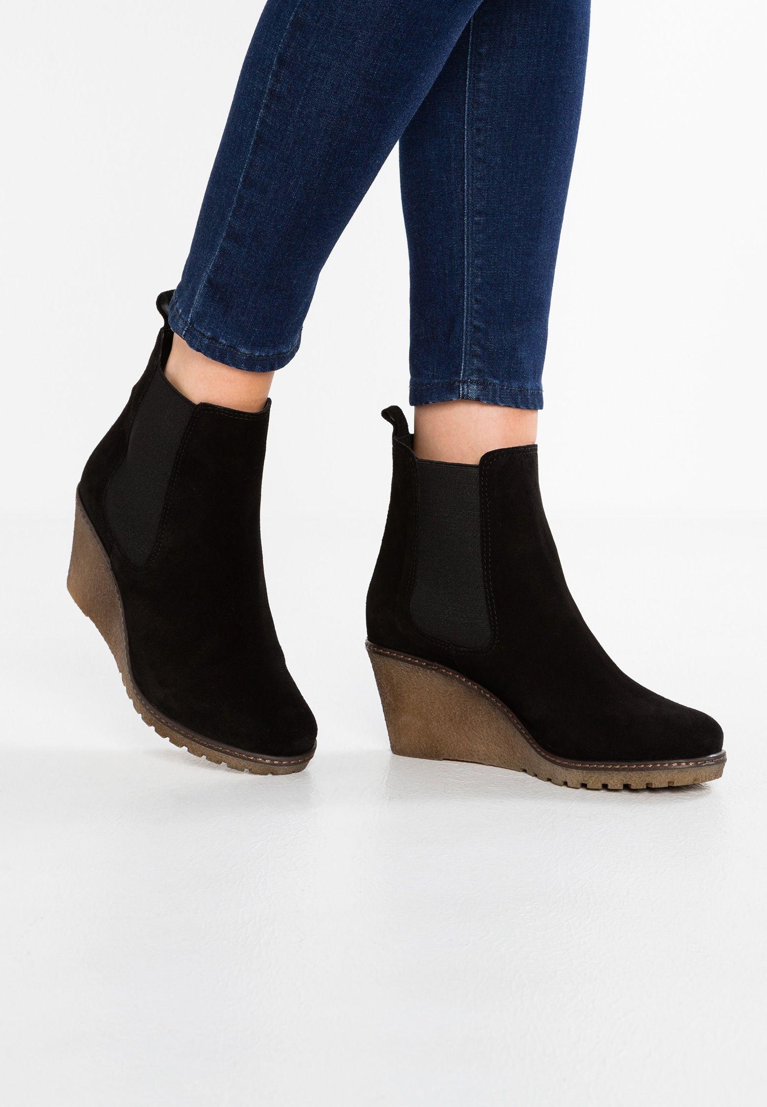 plus récent b74ab ec8b7 Bottines compensées - black @ ZALANDO.FR 🛒 in 2019 | Shoes ...