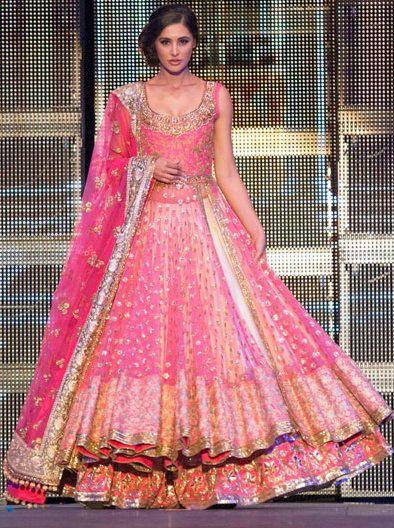 Nargis Fakhri in Pink Anarkali lehenga