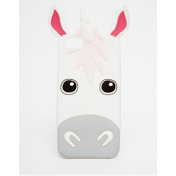 Skinnydip Exclusive Unicorn Silicone iPhone 5 Case featuring polyvore fashion accessories tech accessories phone cases cases phones items multi iphone cases silicon iphone case apple iphone cases iphone cover case silicone iphone case