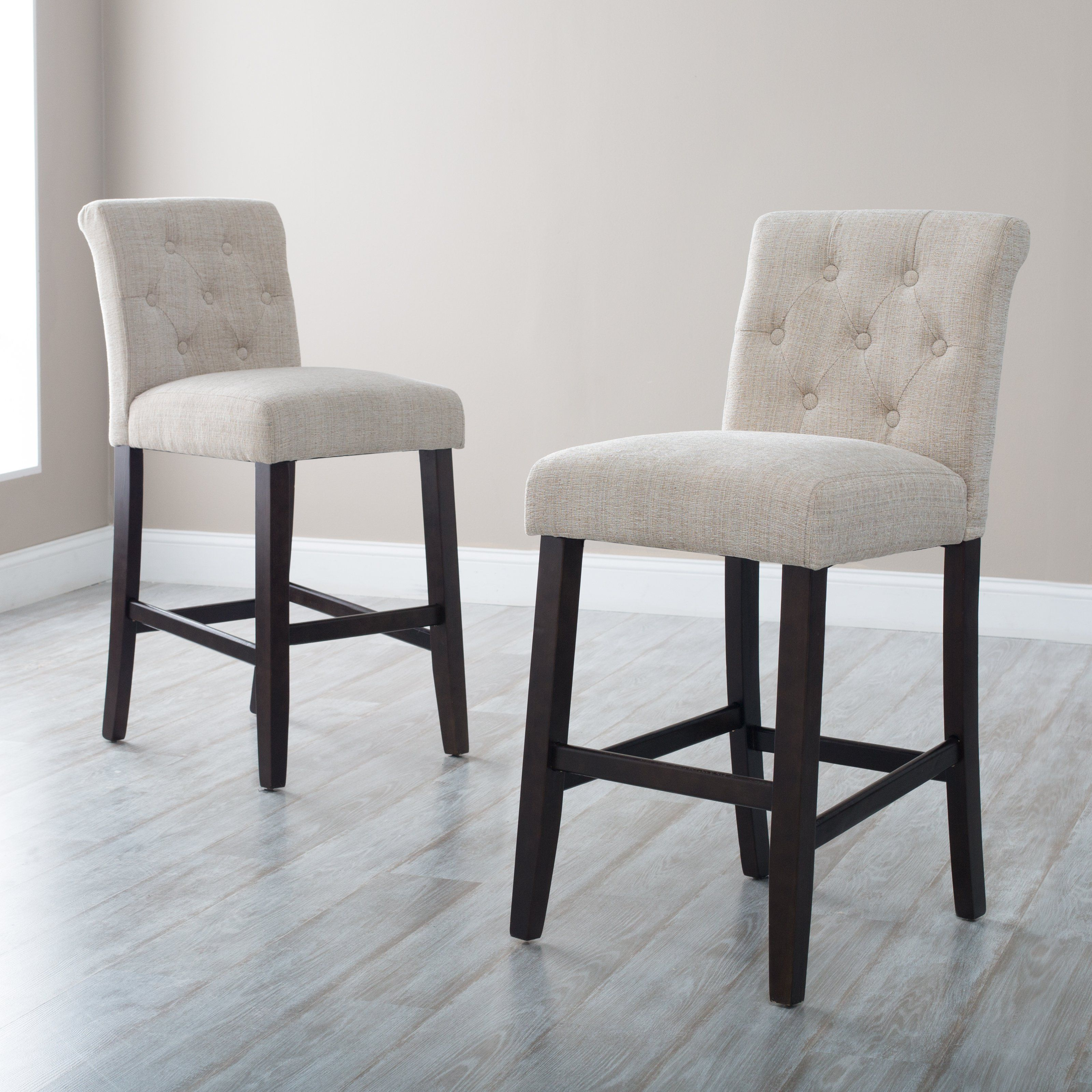 Have to have it. Beige Tufted Counter Stool 99
