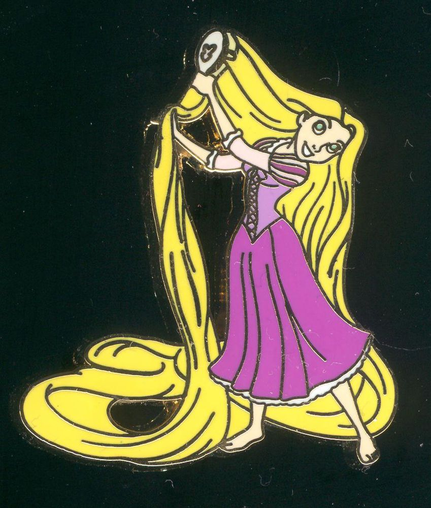 Jerry Leigh Tangled Rapunzel Brushing Hair Disney Pin 82641