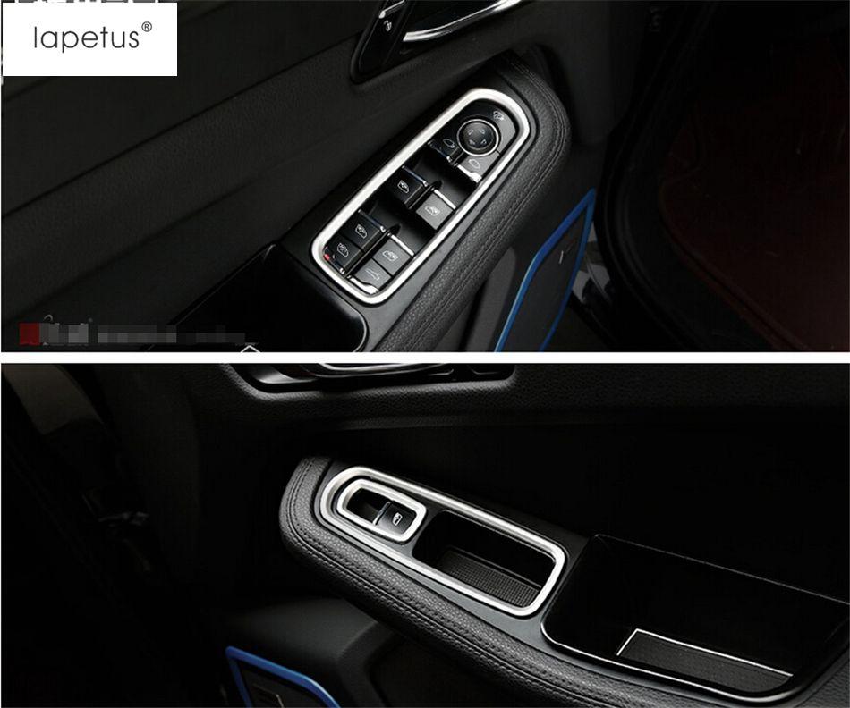 Accessories For Porsche Cayenne 2015 2016 2017 Inside Door Handle Panel Sticker Surround Window Lift Switch Cove Door Handles Inside Doors Interior Accessories