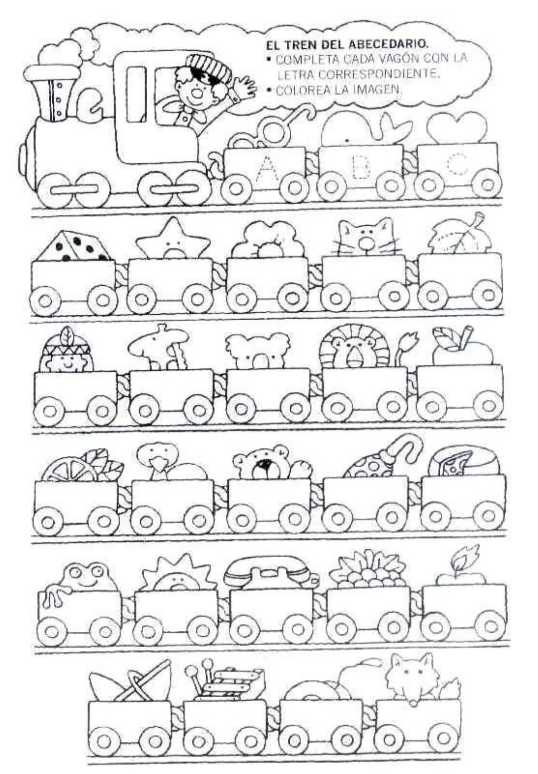 Letramania 2 Pdf Transportation Preschool Coloring Pages Baby Learning