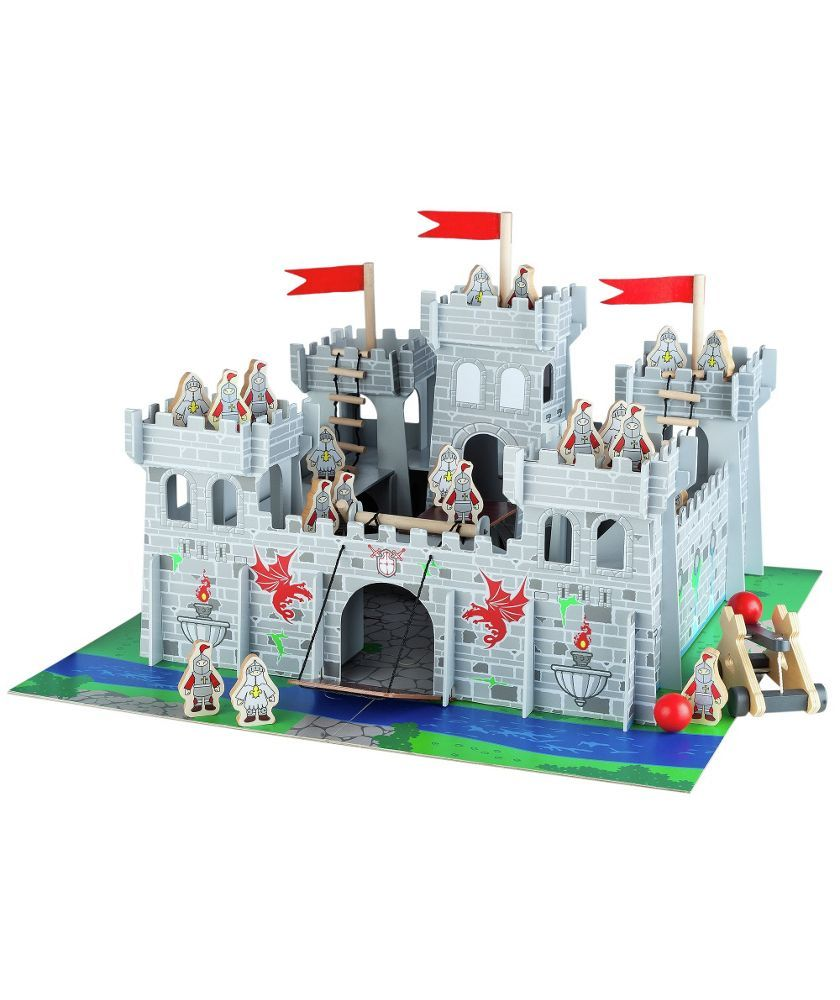 Buy Chad Valley Wooden Castle With Accessories At Argoscouk Your