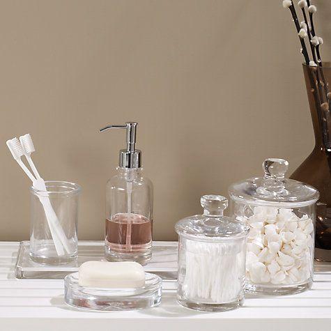 Buy John Lewis Glass Bathroom Accessories Online At Johnlewis.com