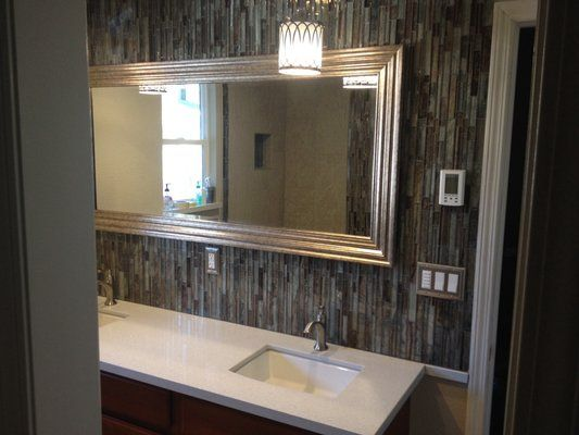Full Length Mirror With Tile Surround  Google Search  Restrooms Mesmerizing Bathroom Accent Tile Design Decoration