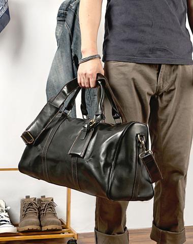 70cf9ab3f Vintage Leather Mens Large Weekender Bags Cool Travel Bag Duffle Bag for Men