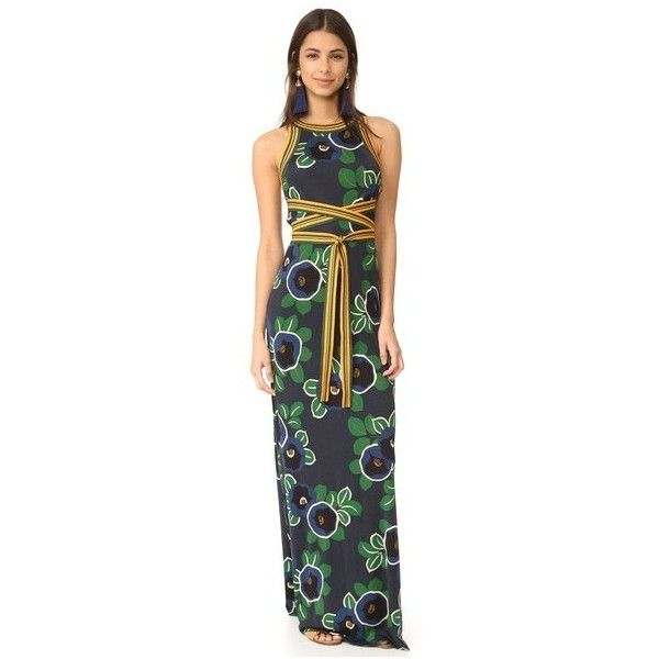 Tory Burch Kelso Gown (€565) ❤ liked on Polyvore featuring dresses ...